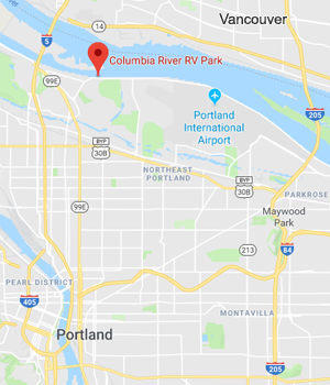 Location of Columbia River RV Park